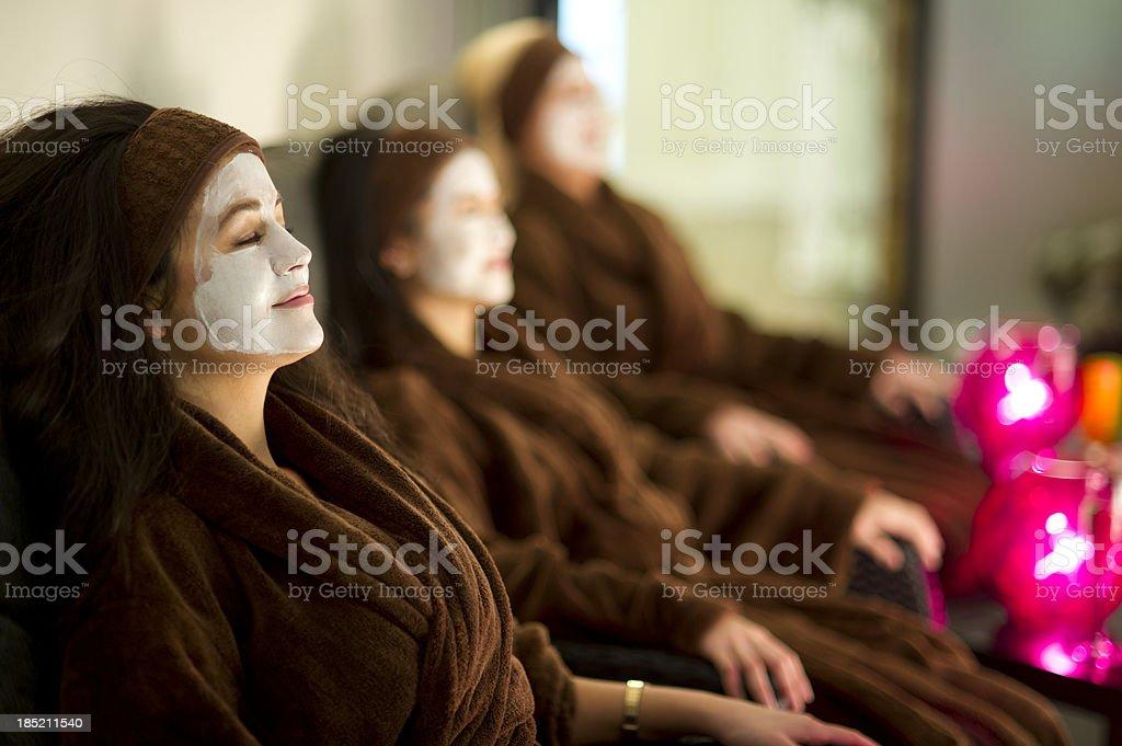 spa facials stock photo