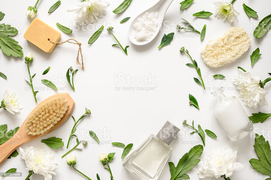 Spa floral background stock photo