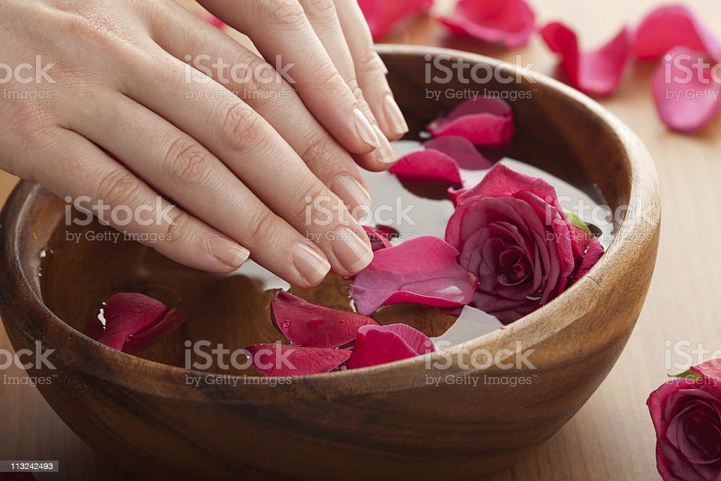 spa for hands stock photo