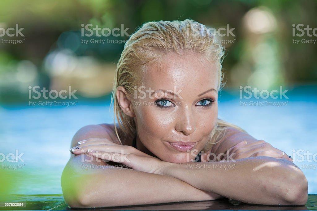 spa girl stock photo