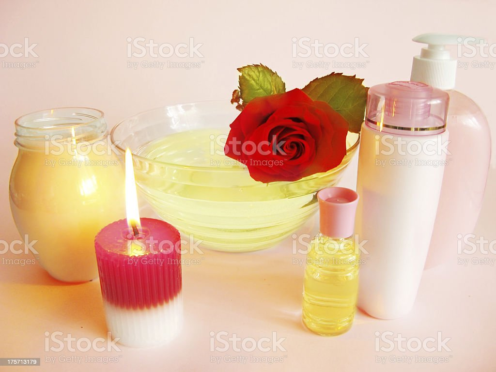 spa hair mask tonic essences liquid soap royalty-free stock photo