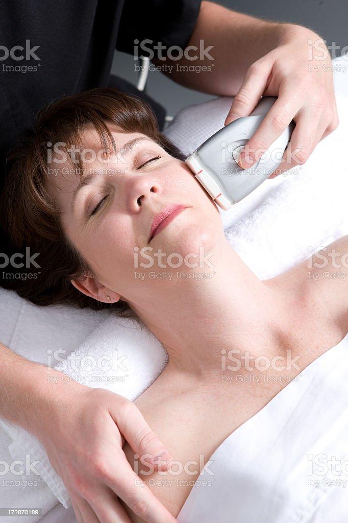 Spa High-Tech Facial Treatment stock photo