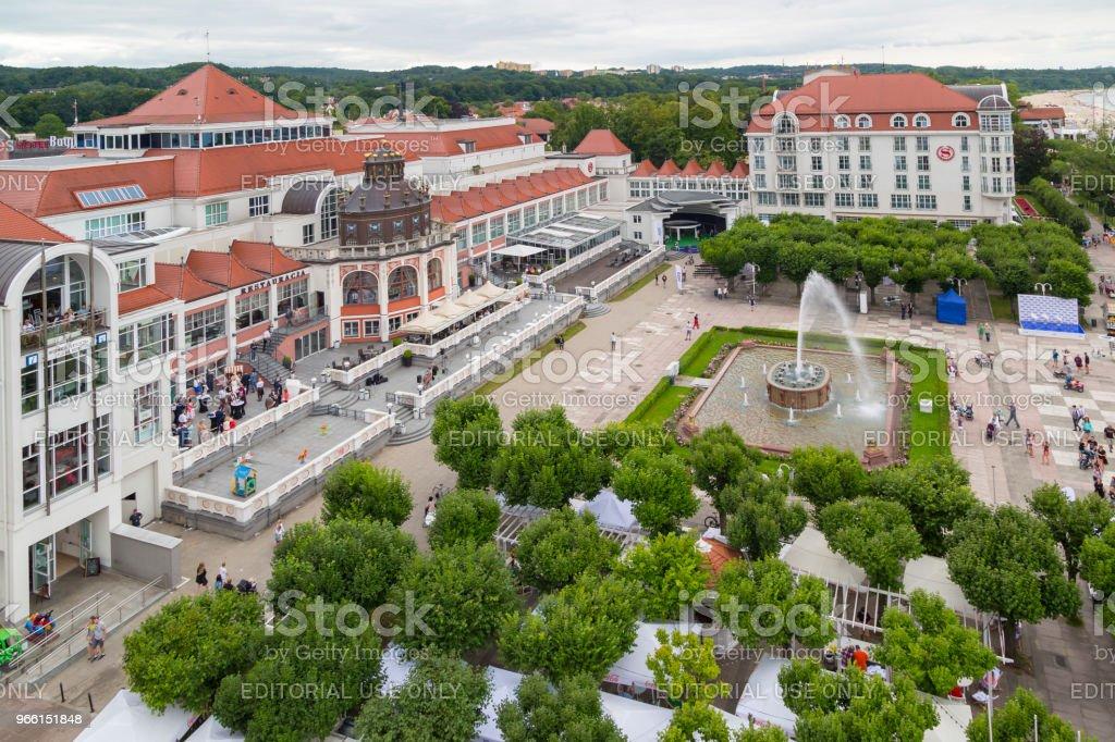 Spa hus i Sopot, Polen - Royaltyfri Arkitektur Bildbanksbilder