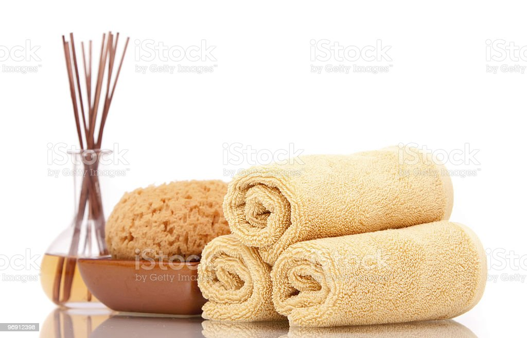 Spa items on white background royalty-free stock photo