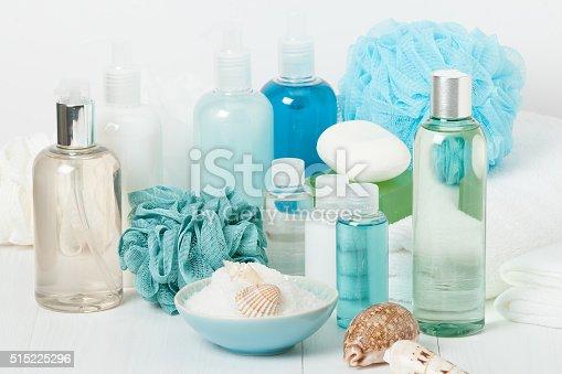 istock Spa Kit. Shampoo, Soap Bar And Liquid. Shower Gel. Aromatherapy 515225296