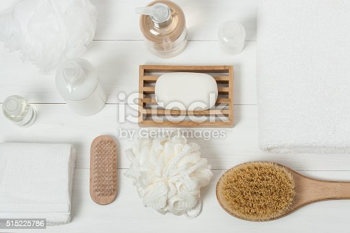 istock Spa Kit. Shampoo, Soap Bar And Liquid. Shower Gel. Aromatherapy 515225786