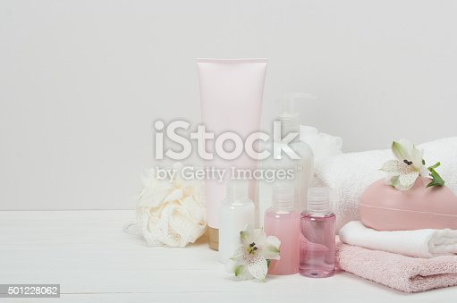 istock Spa Kit. Shampoo, Soap Bar And Liquid. Toiletries 501228062