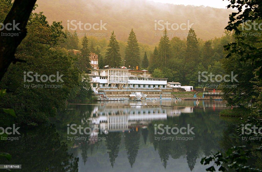 Spa Lake in Sovata, Romania royalty-free stock photo