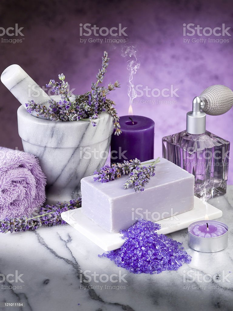 spa lavender products royalty-free stock photo