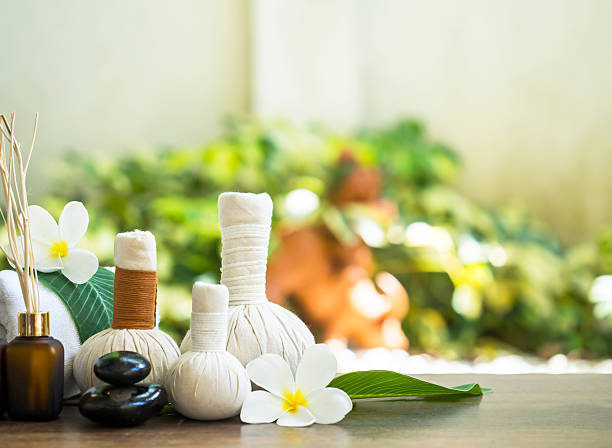 spa massage and treatment , thailand, select and soft focus - thai massage stock photos and pictures