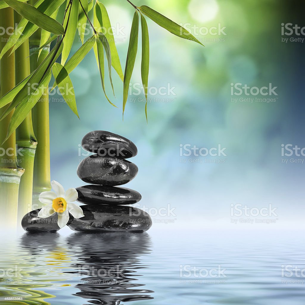 spa massage background - in garden stock photo