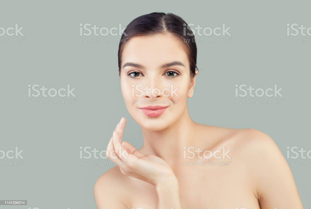 Spa Model Woman Portrait Facial Treatment Face Lifting Anti Aging