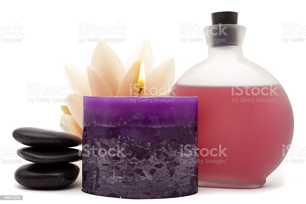 Spa objects for decor royalty-free stock photo