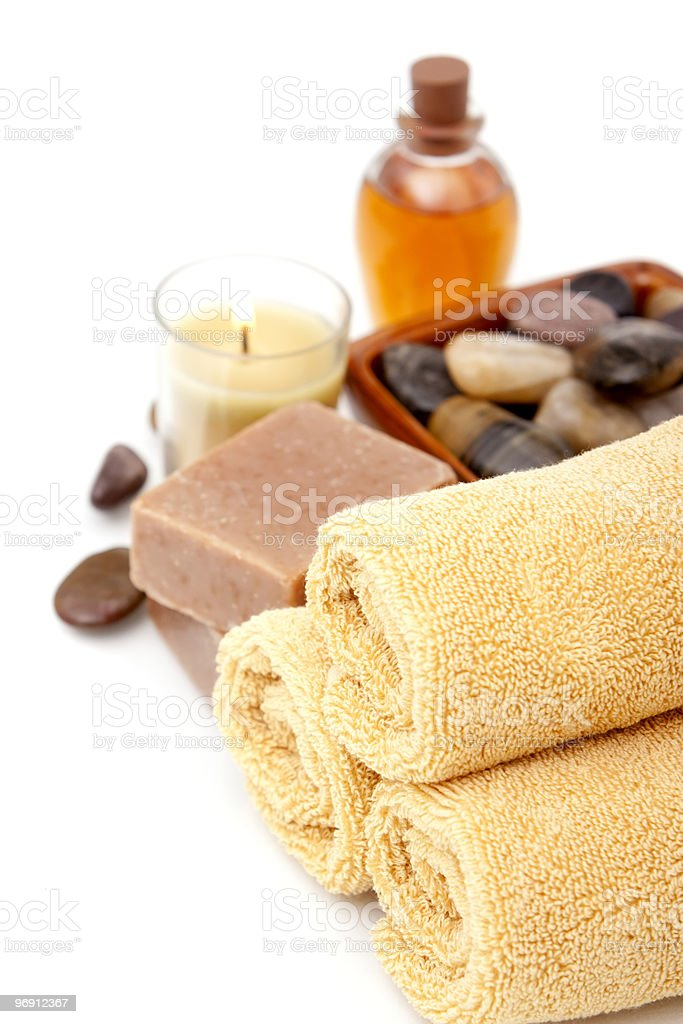 Spa objects on white background royalty-free stock photo