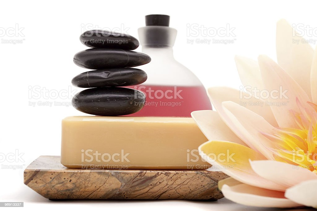 Spa objects with lotus royalty-free stock photo