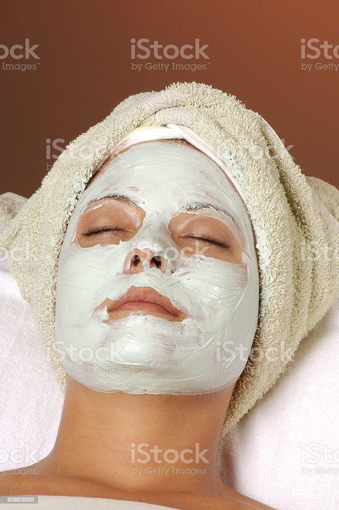 Spa Organic Facial Masque Full Application royalty-free stock photo
