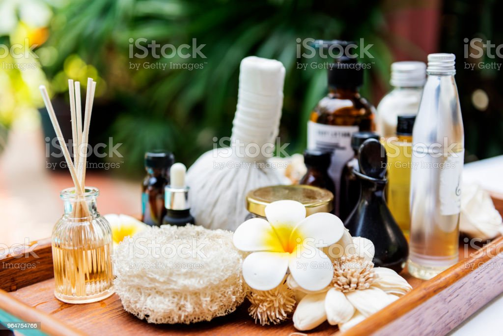 Spa products massage and body care royalty-free stock photo