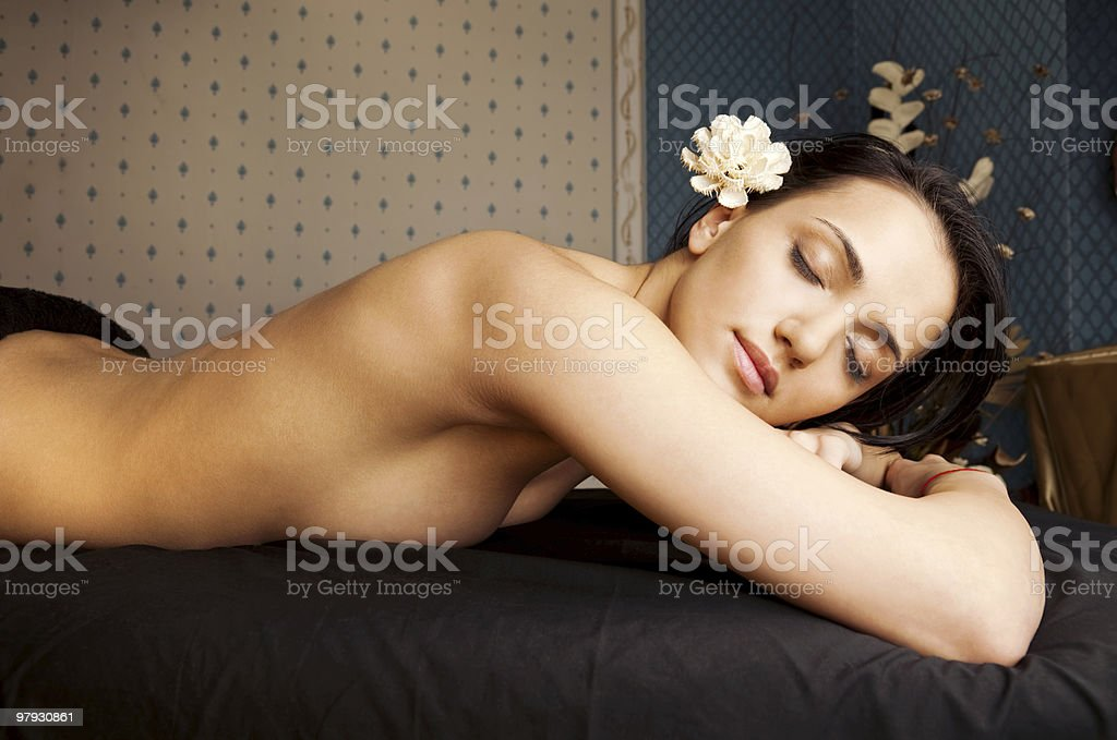 Spa relaxation beautiful female royalty-free stock photo