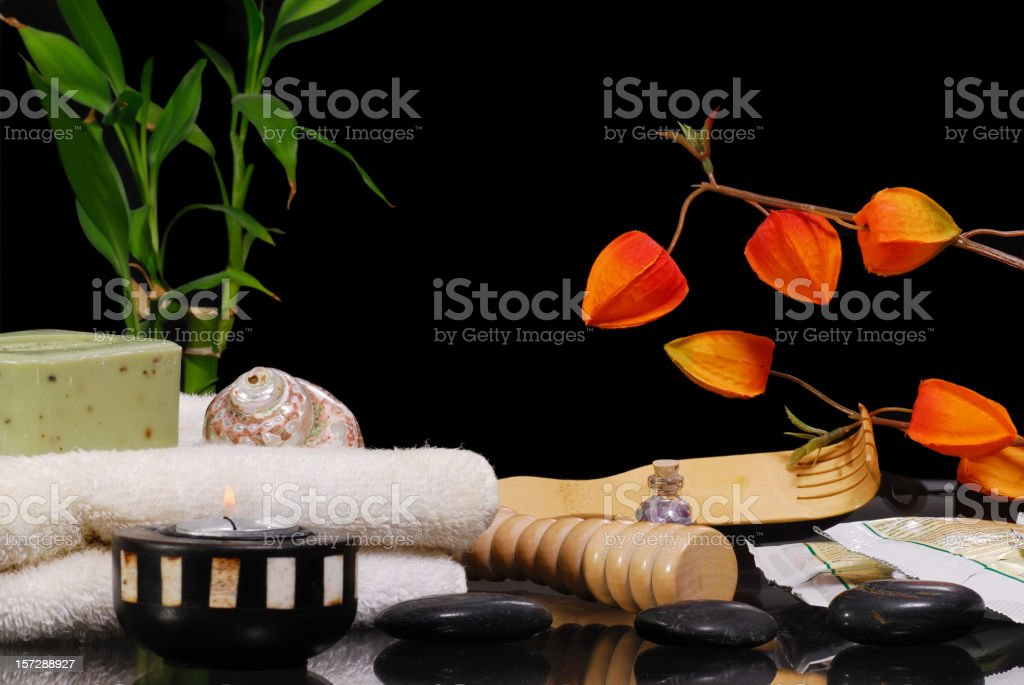 Spa Relaxation Items royalty-free stock photo