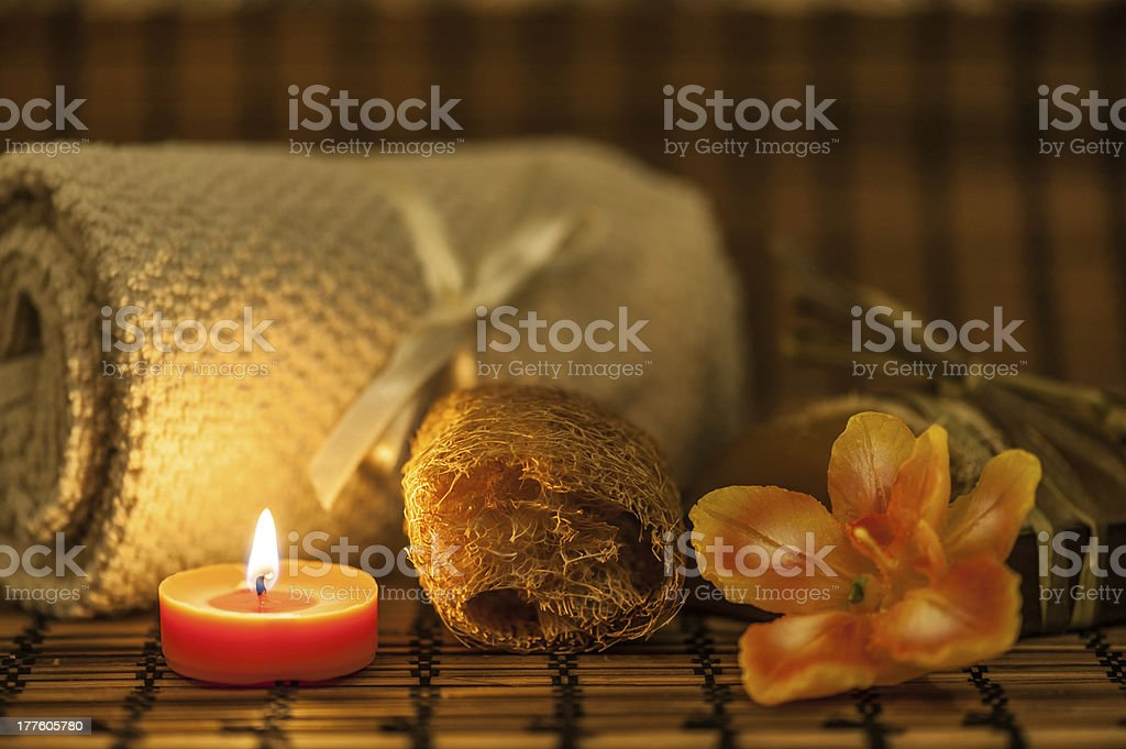 Spa relaxation set royalty-free stock photo