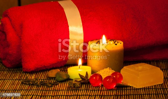 istock Spa relaxation set 476697835