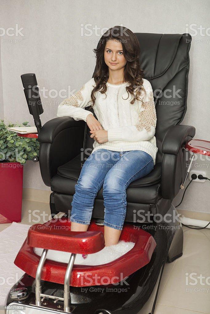 Spa salon. Pedicure. stock photo