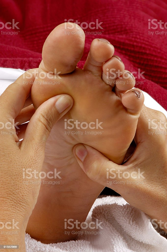 Spa Salon Reflexology Foot Massage royalty-free stock photo