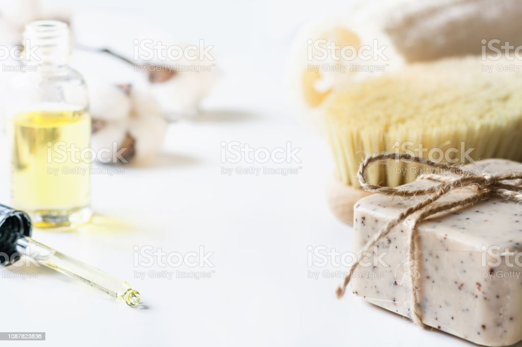 Spa set for cellulite removal and wellness. Anti-cellulite kit. - foto stock