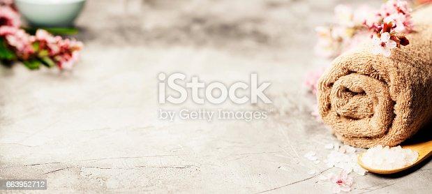 istock Spa setting 663952712