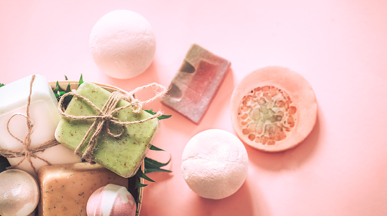 656780900 istock photo spa soap with salt bombs 1011505458