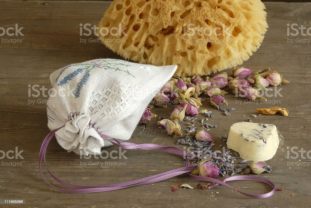 spa stil life with lavender royalty-free stock photo