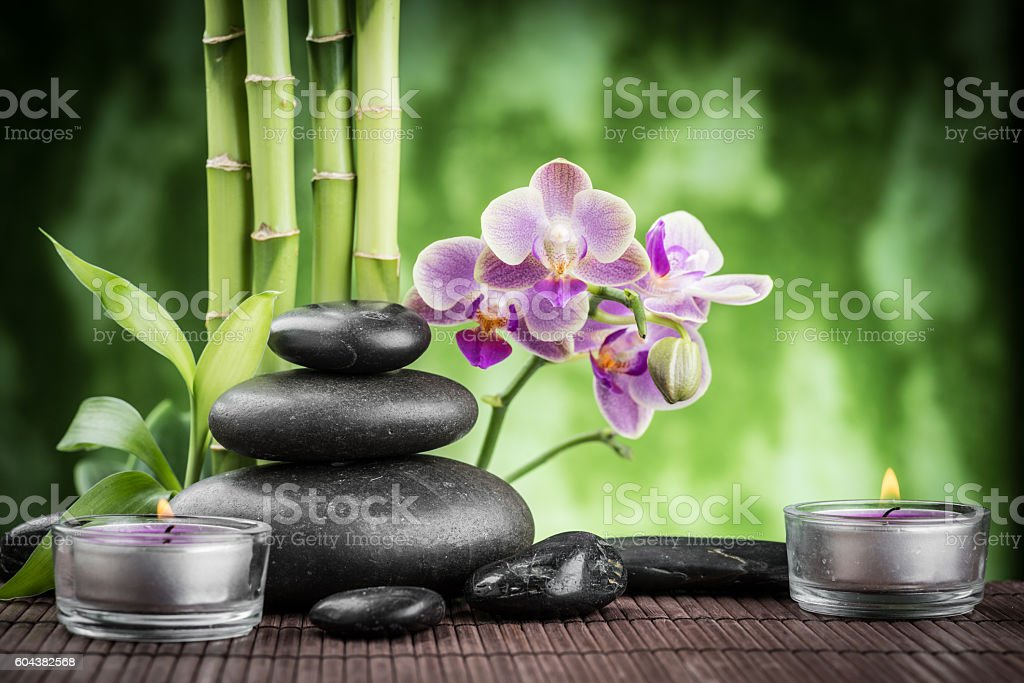 spa still life stock photo