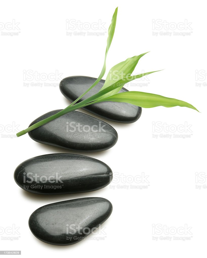 Spa Stones and Leaf royalty-free stock photo