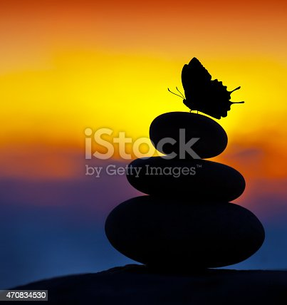 istock Spa stones balance 470834530