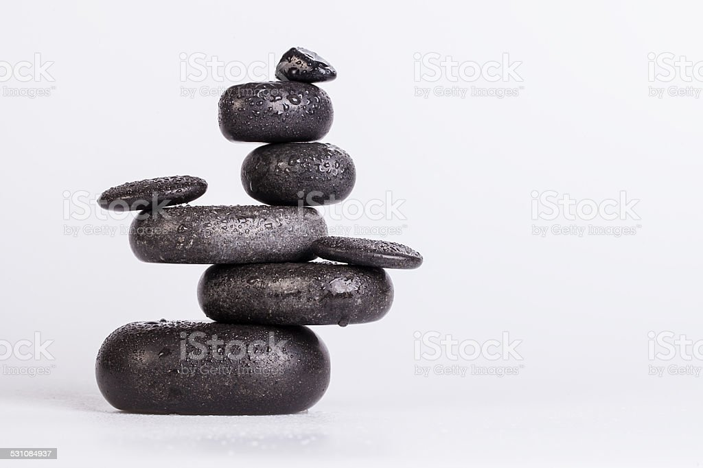 Spa stones isolated on white stock photo