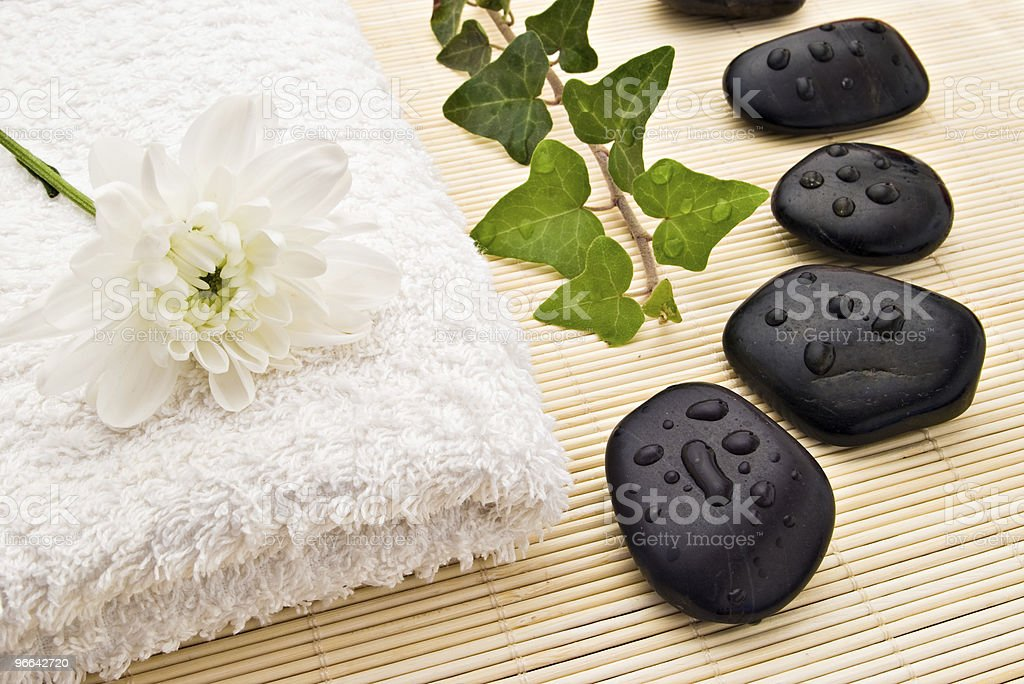 spa stones royalty-free stock photo