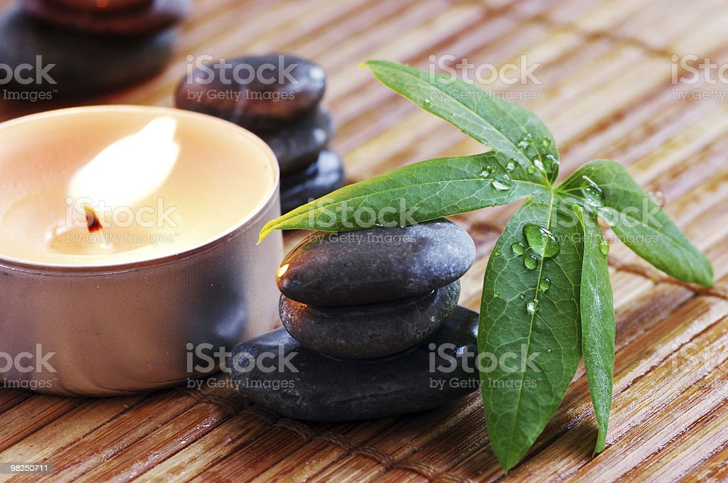 spa stones royalty-free stock photo