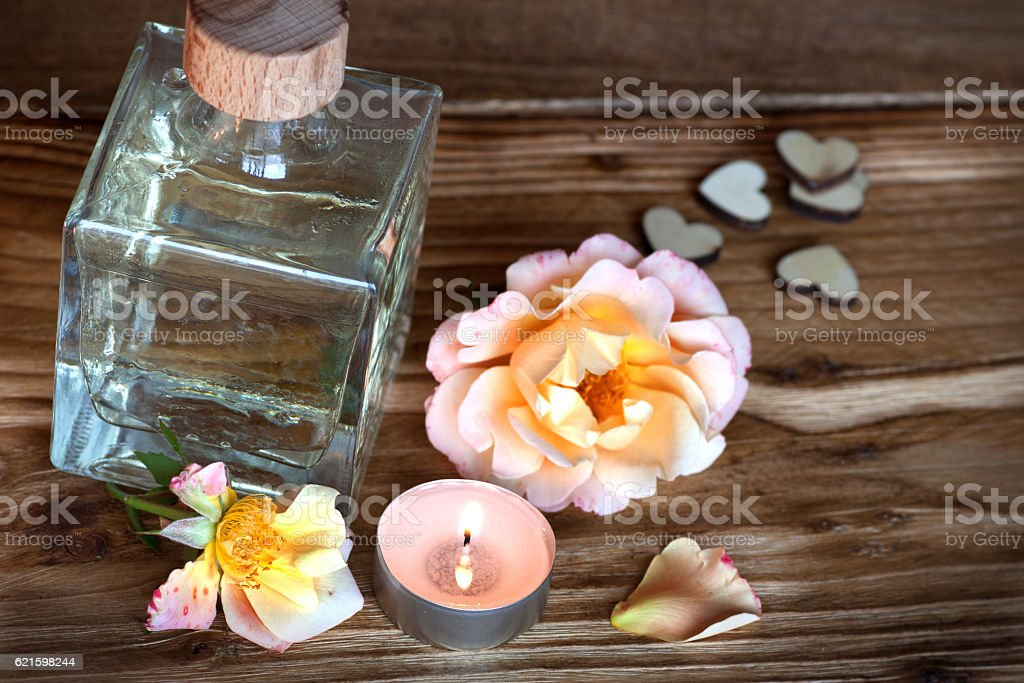Spa theme for a wellness treatment stock photo