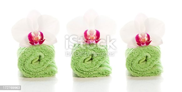 1175869940 istock photo Spa towels and orchids 172769963