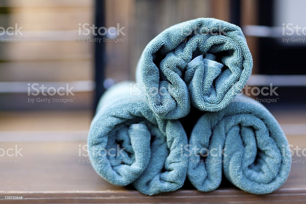 spa towels royalty-free stock photo