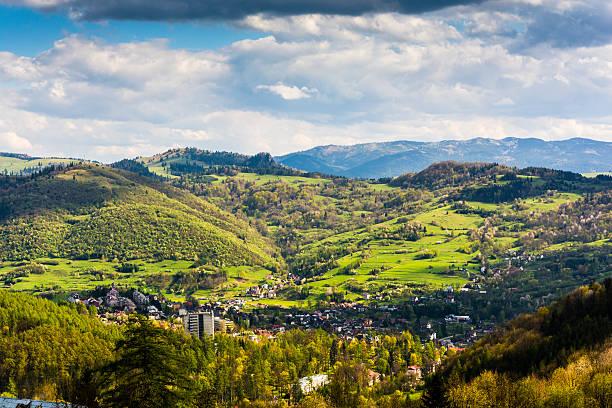 Spa town in the valley. stok fotoğrafı