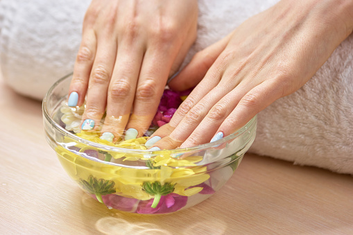 istock Spa treatment for female hands. 979623414