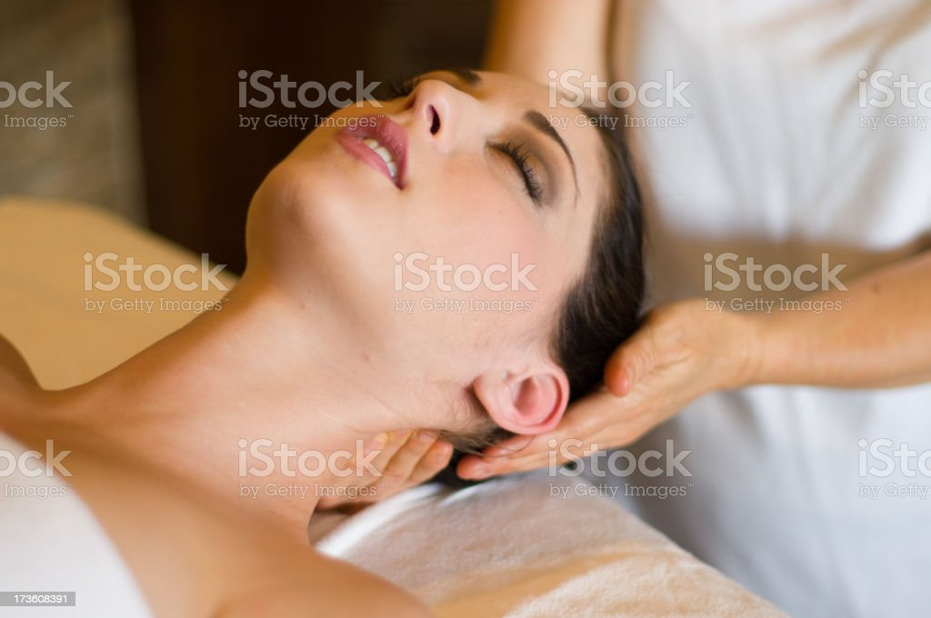 Spa treatment in a beauty and wellness resort to clear kinds royalty-free stock photo
