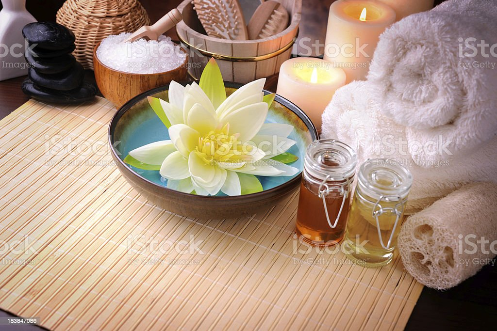 Spa Treatment with copy space stock photo