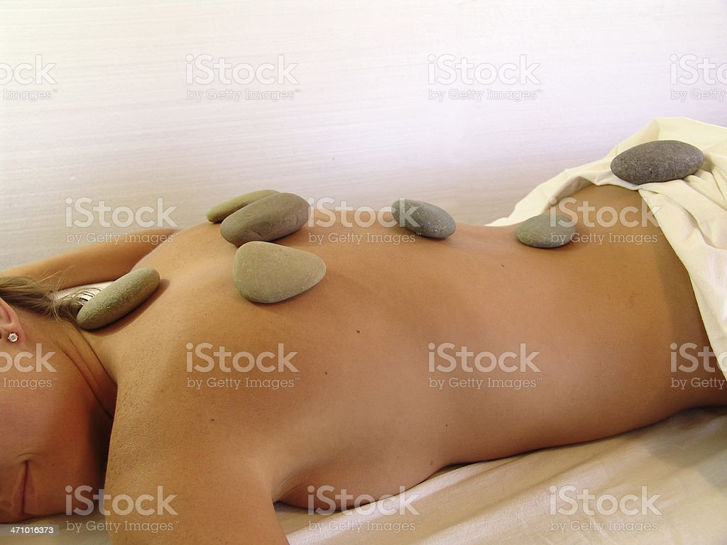 spa treatment with stones royalty-free stock photo