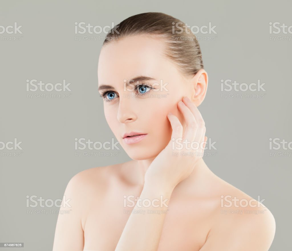 Spa Woman With Healthy Skin And Cute Face Spa Beauty Facial Treatment And Cosmetology Concept Stock Photo Download Image Now Istock