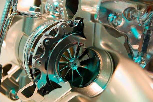 Spaccato particolare turbina stock photo