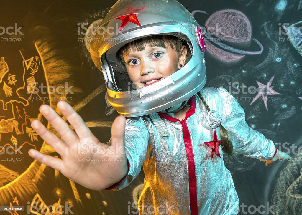 Space adventure stock photo