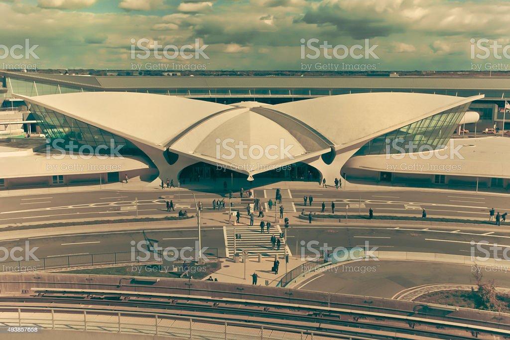 Espacio de TWA Flight Center en el aeropuerto JFK - foto de stock