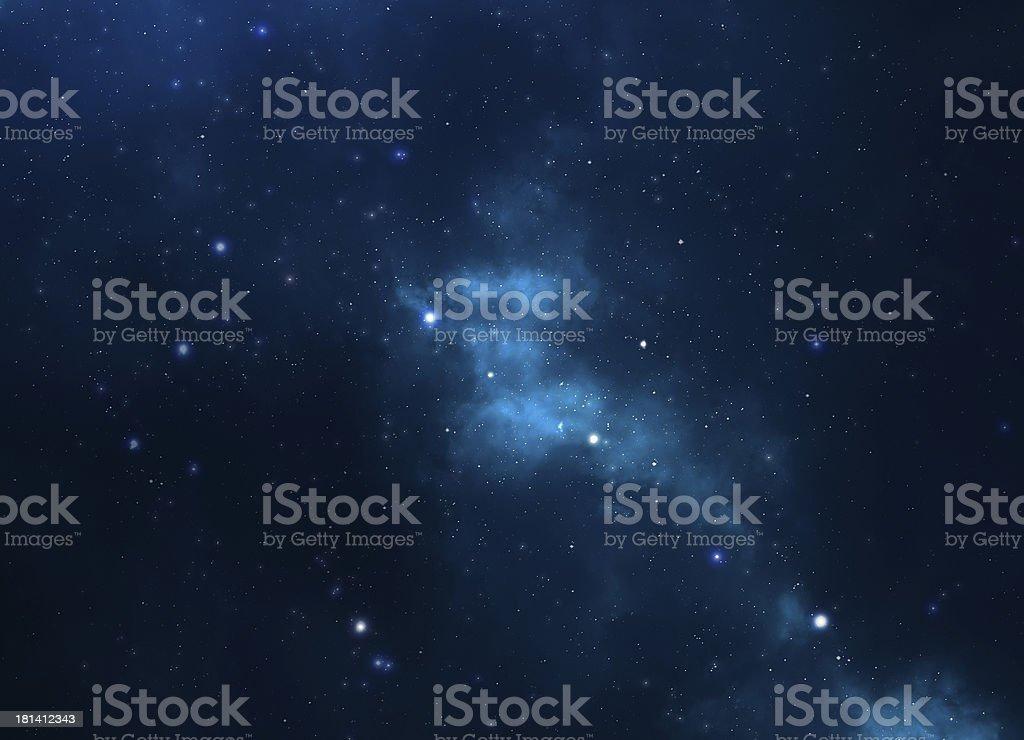 Space background - stars, universe, galaxy and nebula royalty-free stock photo